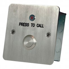 Call button with LED c/w anti tamper screws stainless steel