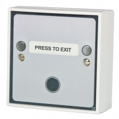 Multi function Press to Exit button c/w green LED & sounder