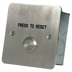 Press to Reset button Stainless steel