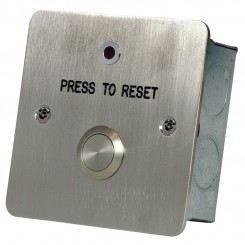 Reset button with LED c/w anti tamper screws stainless steel