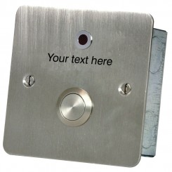 Button & LED with Custom text Stainless steel