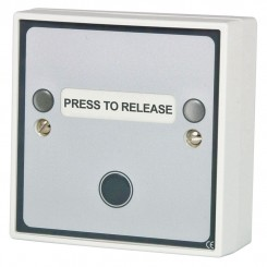 Press to Release button with Red and Green door status LEDs