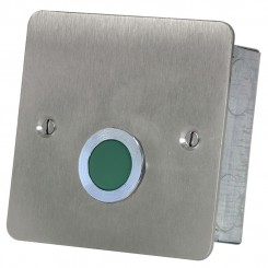 Green Overdoor Light and sounder Stainless steel