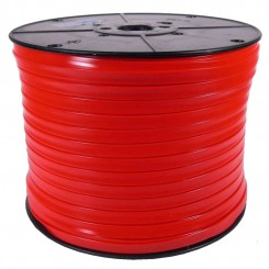 300M Red Sanipull anti-ligature ribbon on a reel