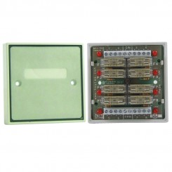 Boxed 8 way fused output module with fuse status LEDs