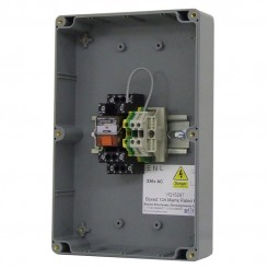 Boxed 10A Mains Rated Relay  IP65 rated enclosure