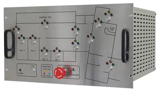Detention cell door lock controller